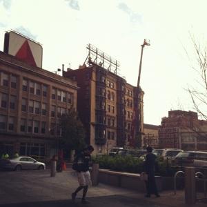 Kenmore Square Billboard Being Repaired