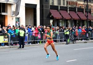 2013 Boston Marathon elite runner