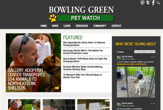 SCREENSHOT: My team and I built and worked on a multimedia news site for the Patch/DJNF training in June.