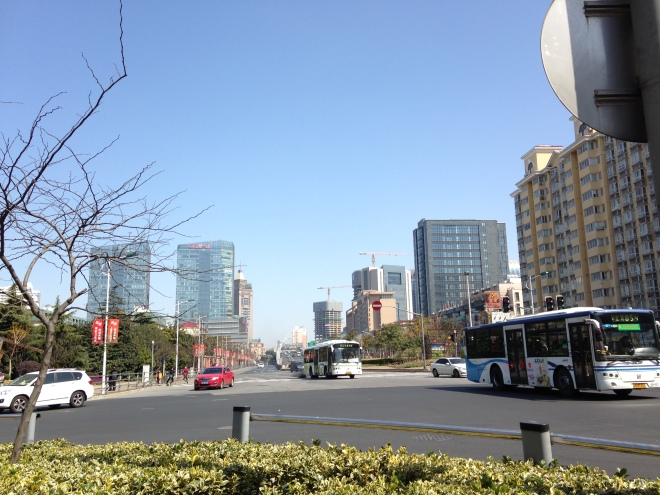 Blue skies in Shanghai