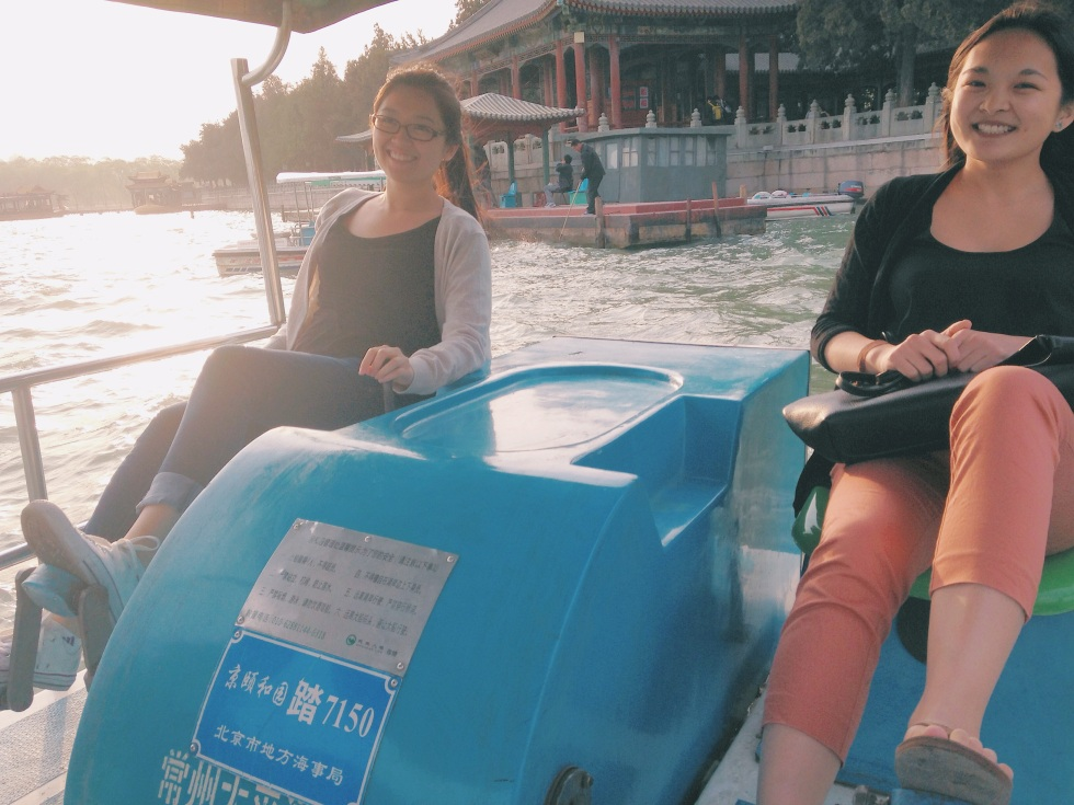 Pedal boating in Summer Palace
