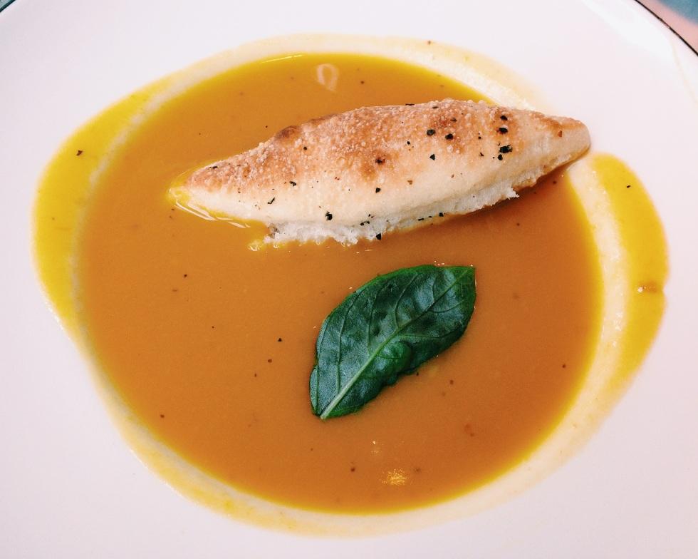 Pizza Express pumpkin soup