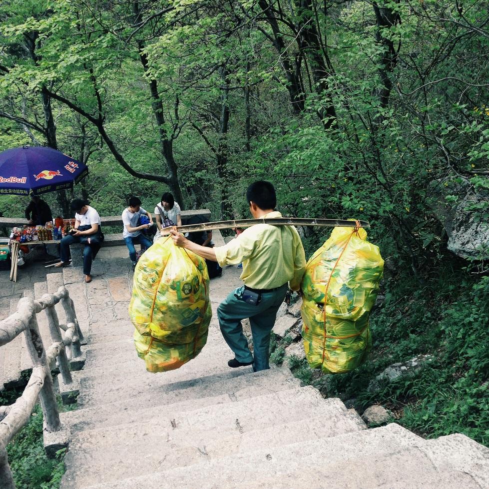 Huangshan trash collectors