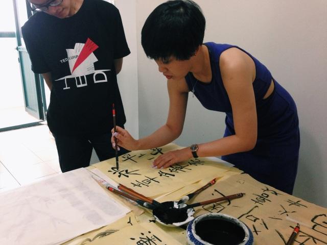 Calligraphy class with Zhao Laoshi