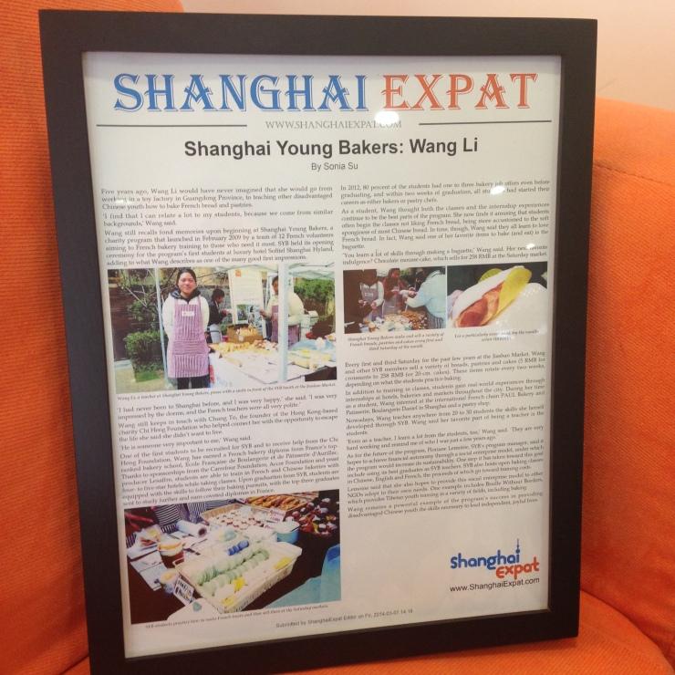 Shanghai Expat framed article