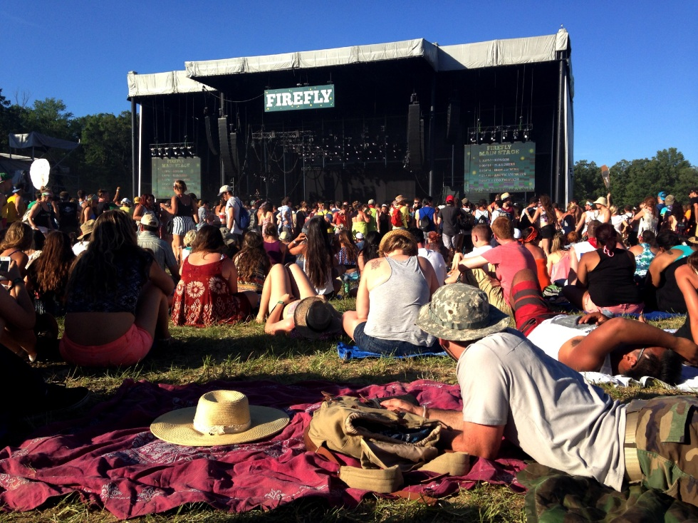Waiting for Arctic Monkeys at Firefly 2014