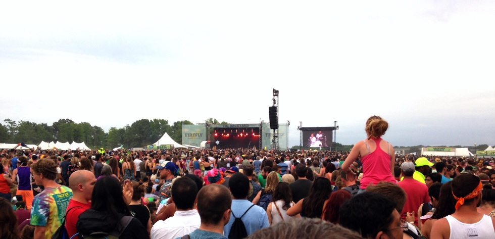 Cage the Elephant audience at Firefly Music Festival 2014