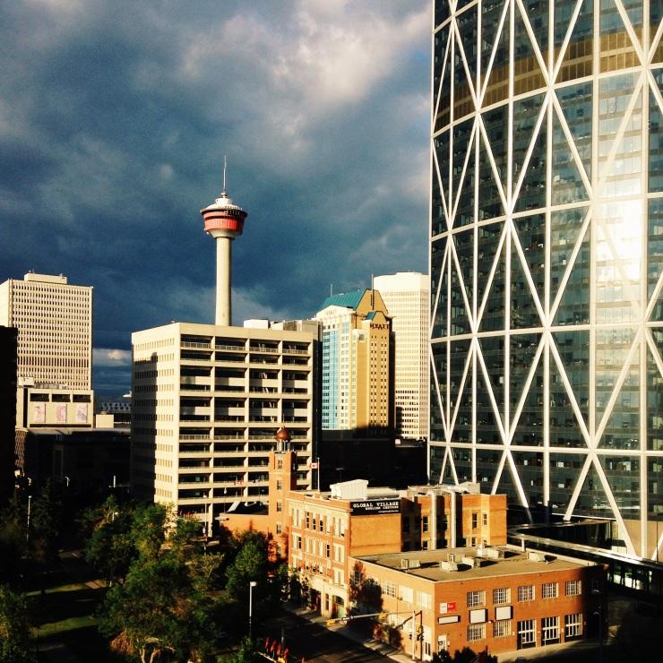 Calgary Tower, skyline