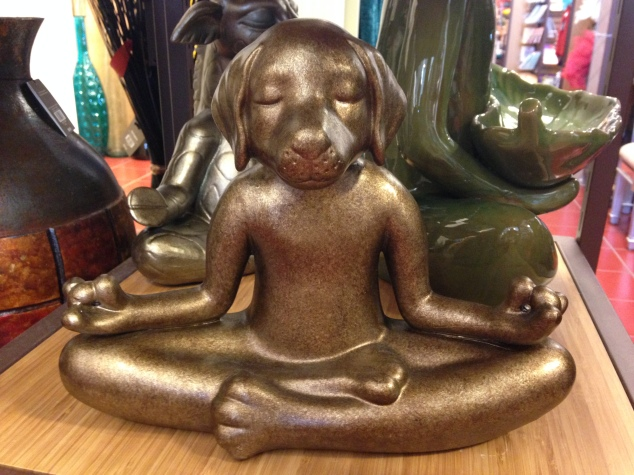 Pier One Imports meditating dog