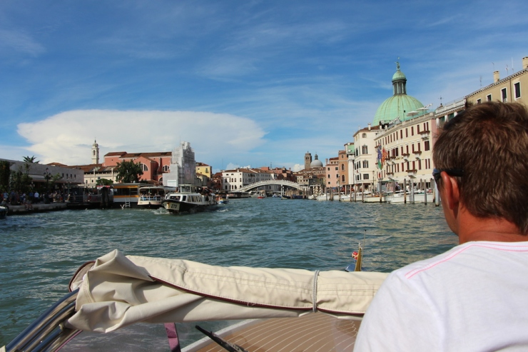 Venice water taxi ride