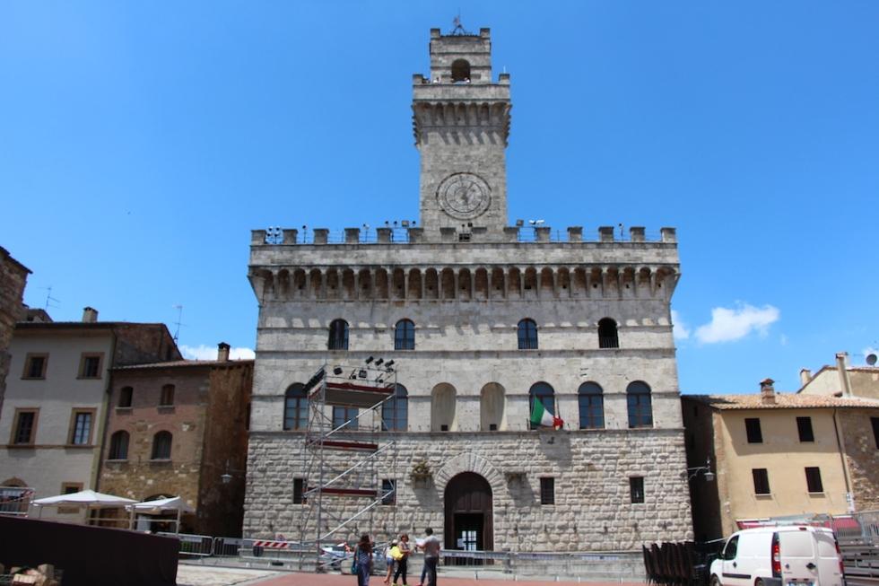 The square in Montepulciano where Twilight filmed