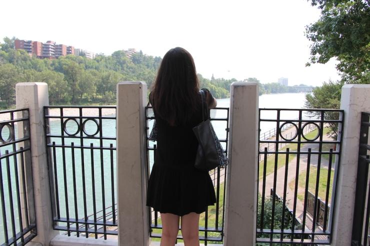 Overlooking bridge