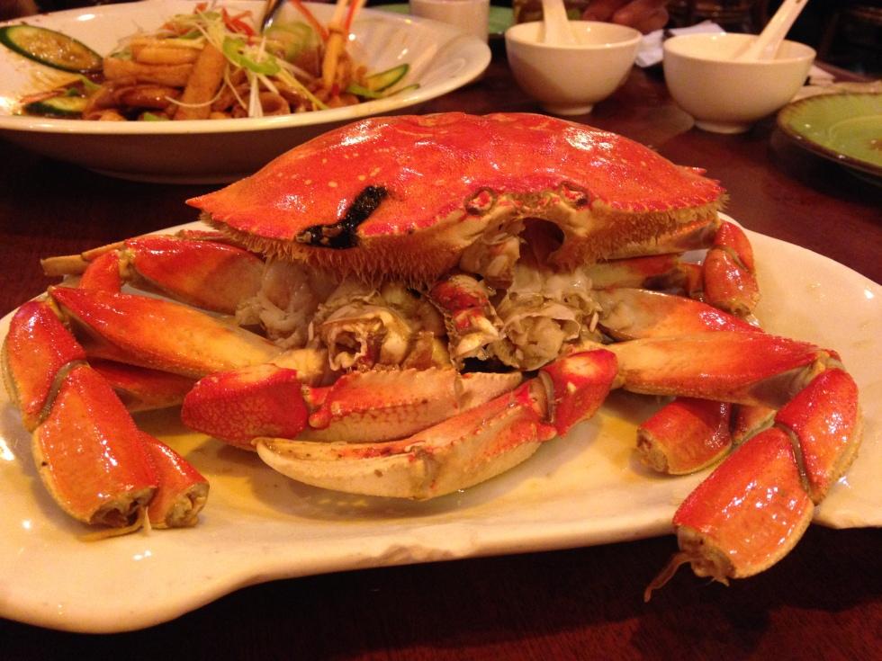 Crab at Congee Village NYC