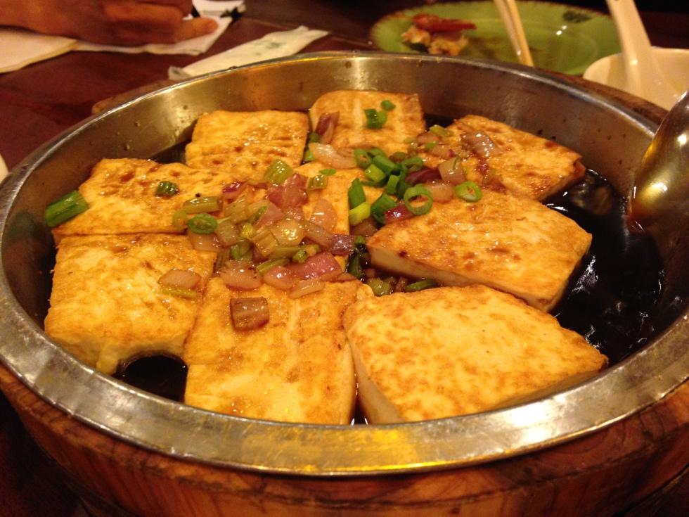 Tofu at Congee Village NYC