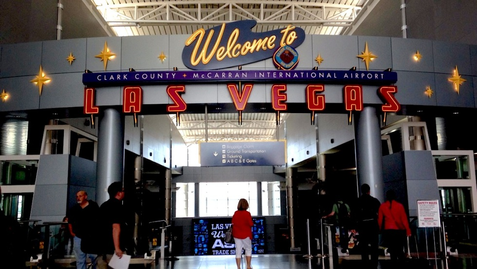 """""""Welcome to Las Vegas"""" sign at McCarran Airport"""