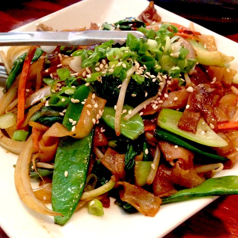 Veggie chow fun at Bao Dim Sum House in L.A.