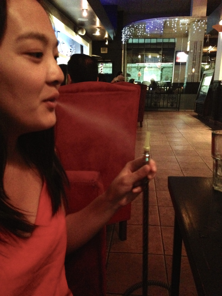 What we did while waiting nearly two hours for Korean BBQ next door.