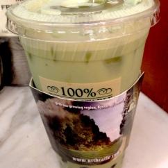 Urth Caffé green tea boba on ice