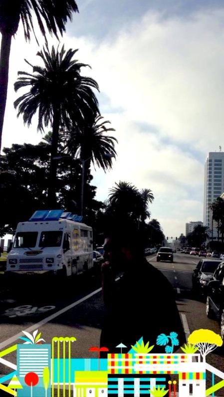 Santa Monica Snapchat filter