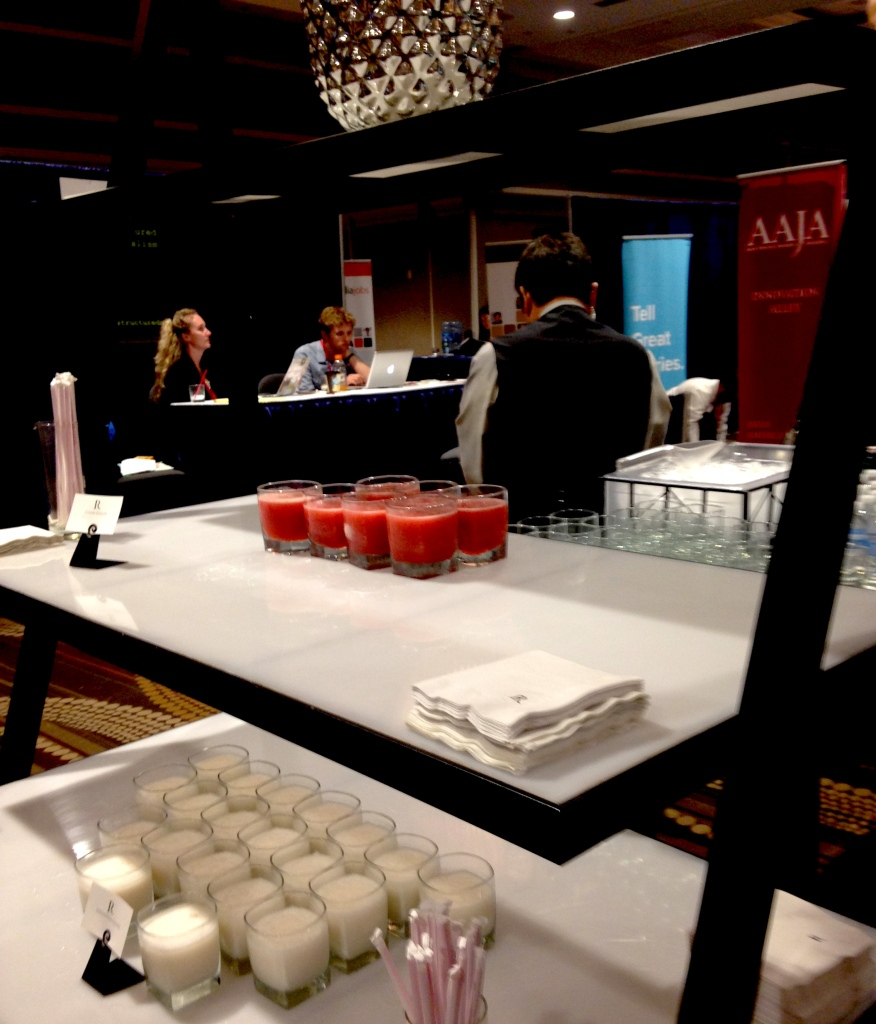 AAJA reception with virgin daiquiris