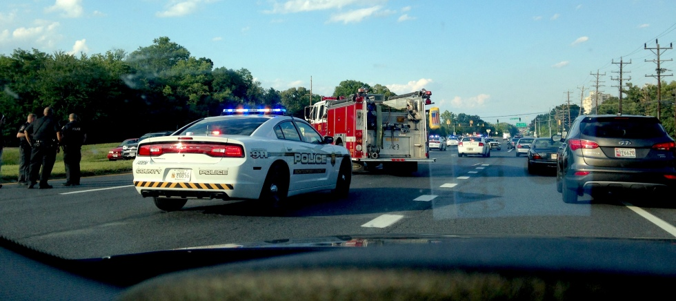 Traffic accident on the way home from D.C.
