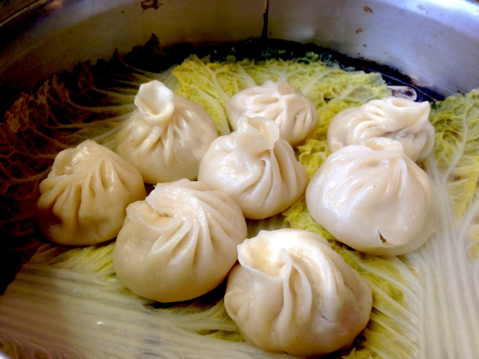 Pork xiaolongbao from Chinatown Express