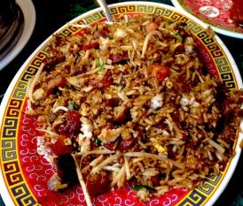 Roast pork fried rice at Chinatown Express