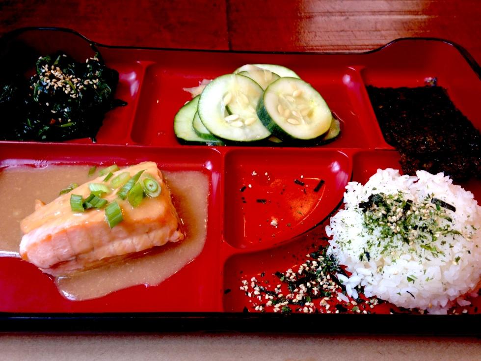 Salmon bento box at Teaism