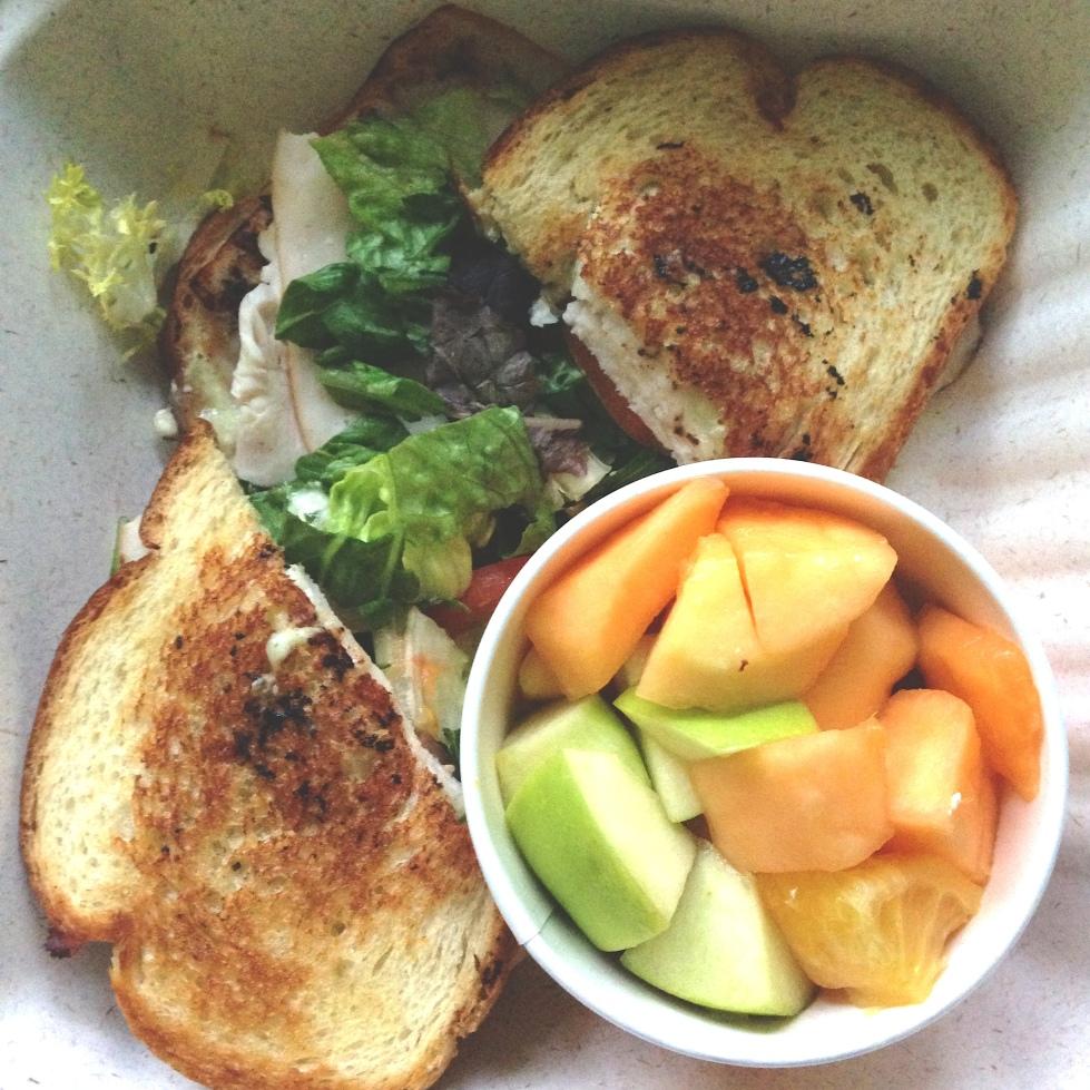 Turkey stack grilled sandwich from Zoe's Kitchen