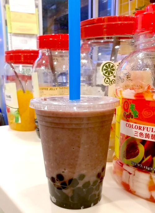 New Dong Khahn's red bean smoothie boba