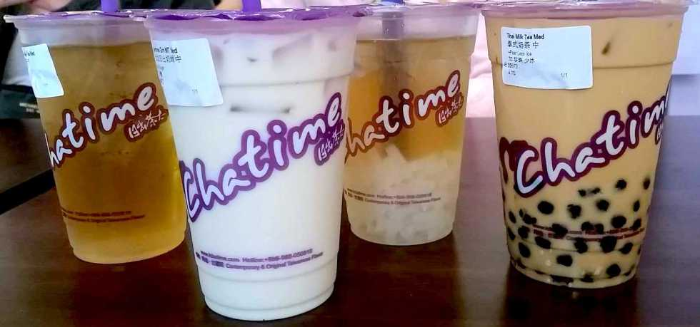 Chatime bubble tea in Boston Chinatown