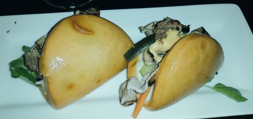 Banh mi bao with duck at Red Lantern