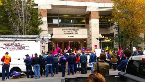Protest on BU campus