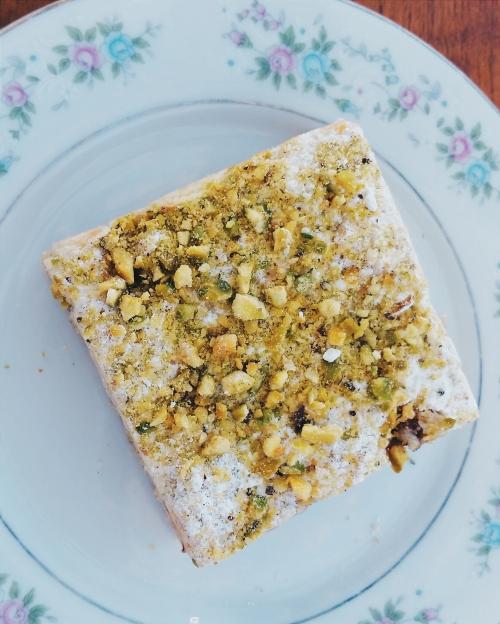 Cherry & pistachio tart from Tatte Bakery & Café