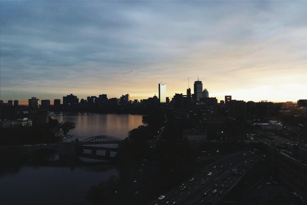 Boston Charles River sunrise