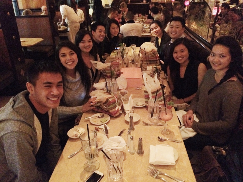 Celebrating Alison's birthday at the Cheesecake Factory