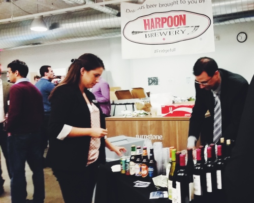 Harpoon Brewery beer at CampusTap's Global Entrepreneurship Kickoff 2014