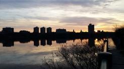 Boston skyline, Charles River