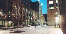 BU School of Law walkway