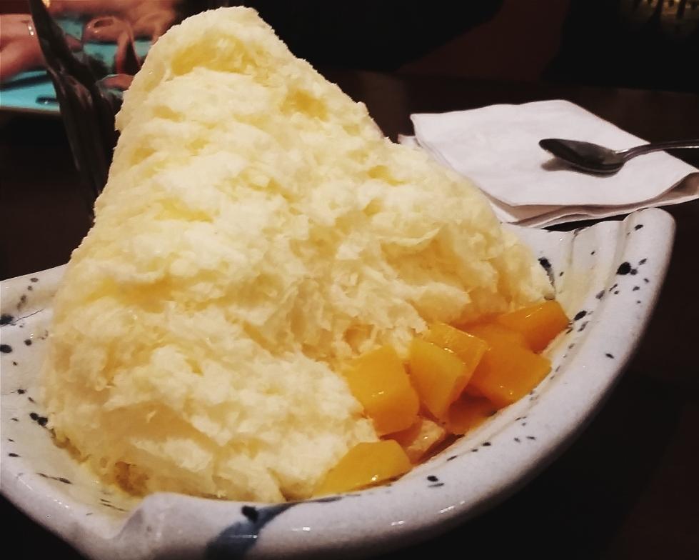 Mango shaved ice from Inaka