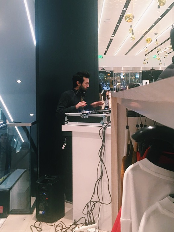 DJ in Topshop on Fifth Avenue