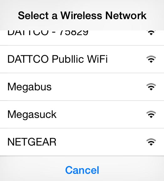 Megabus WiFi