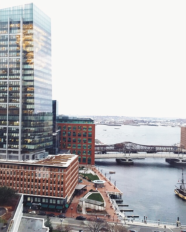 View from Fidelity Center for Applied Technology in Boston