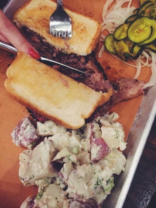 Prime beef brisket from Sweet Cheeks Q in Boston