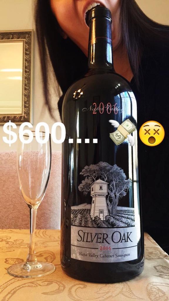 $600 bottle of wine