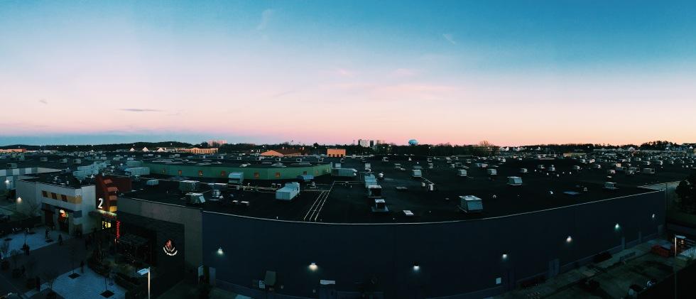 Sunset view from Arundel Mills parking garage