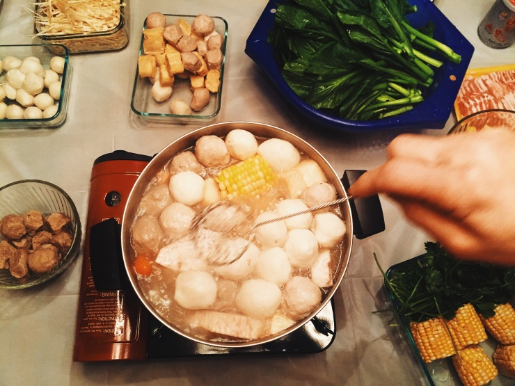 Hot pot at family friend's house