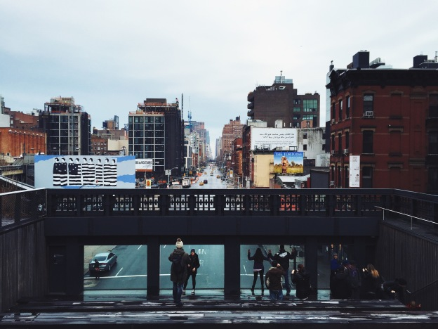 View of 10th Avenue from the High Line