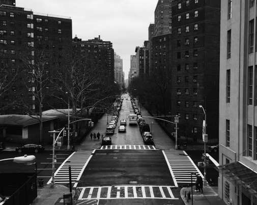 View of NYC street from High Line