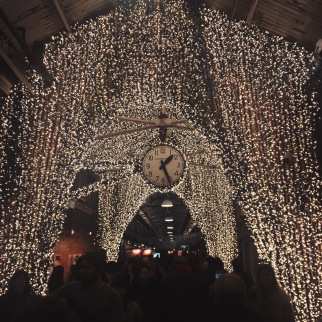 Chelsea Market holiday lights